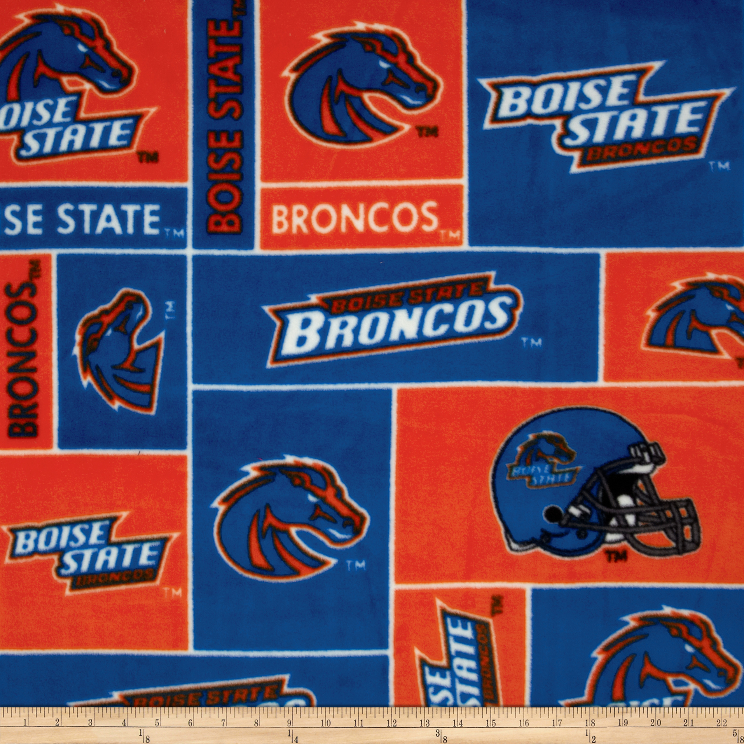 Collegiate Fleece Boise State University Blue Fabric