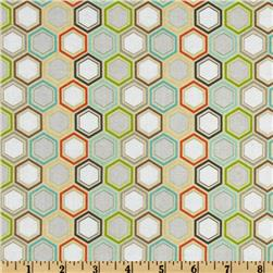 Riley Blake Life In The Jungle Hexagons Gold