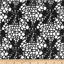 Geometric Crochet Lace Black