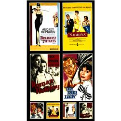Hollywood Icons Panel Audrey Hepburn Movie Poster Multi
