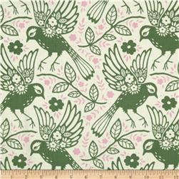 Heather Bailey Up Parasol Meadowlark Loden Fabric