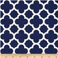Riley Blake Medium Quatrefoil Navy