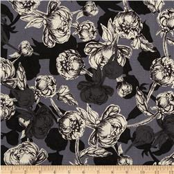 Le Jardin Packed Floral Grey/White