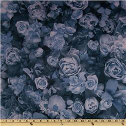 Single Knit Roses Blue