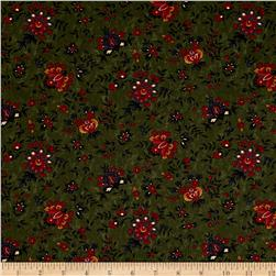Moda Gooseberry Lane Berries & Blooms Forest Green