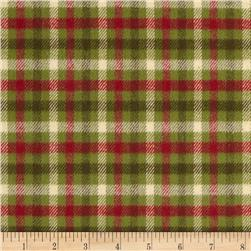 Primo Plaids Christmas Flannel Medium Plaid Green