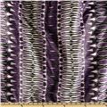 Stretch ITY Jersey Knit Chain Loops Black/Purple