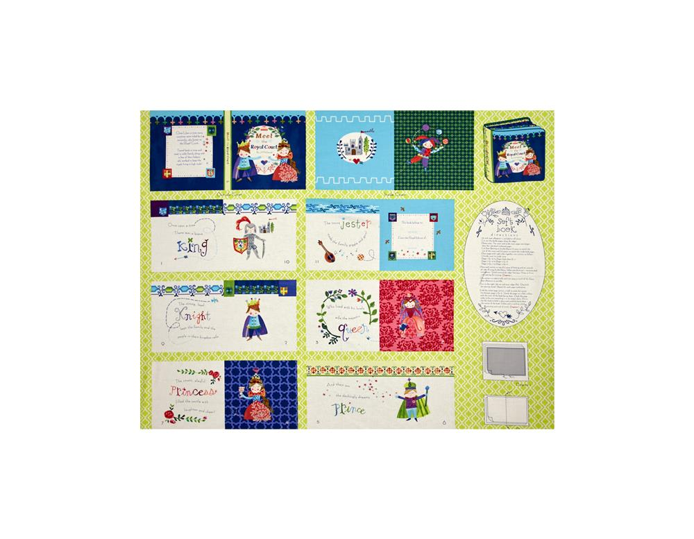 Meet The Royal Court Soft Book 36 In. Panel Multi