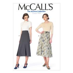 McCall's Misses' Skirts and Belt Pattern M6993 Size A50