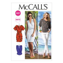 McCall's Misses' Tops and Dress Pattern M6752 Size