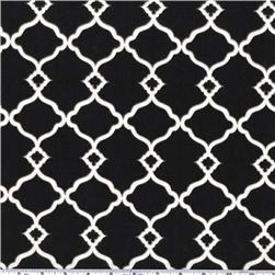 Waverly Sun N Shade Chippendale Fretwork Onyx Fabric