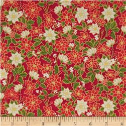 Season's Greetings 2013 Small Poinsettias Red