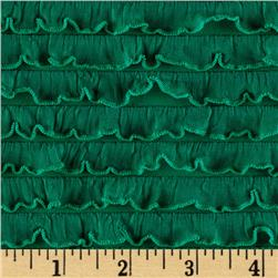 Bisou Stretch Mini Ruffle Knit Green Fabric