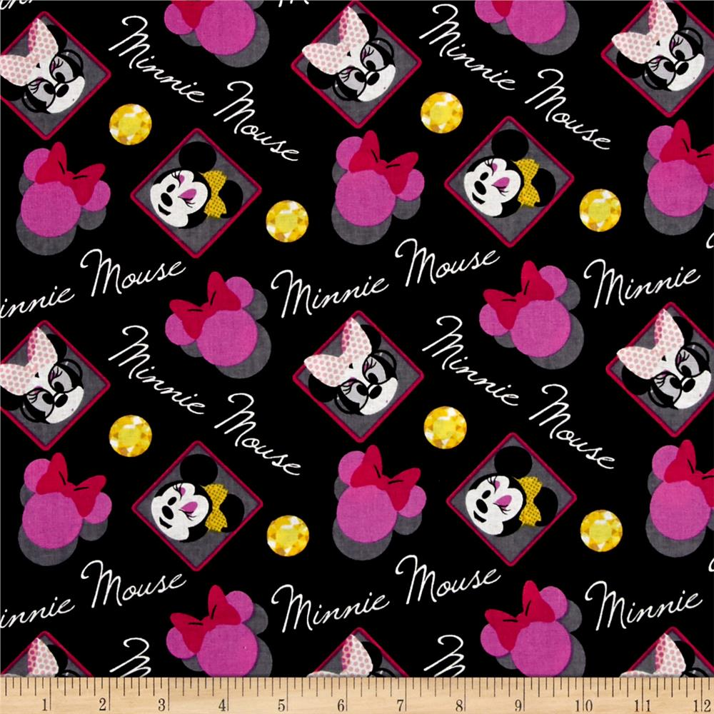 Disney Minnie's World Minnie Mouse Badge Black