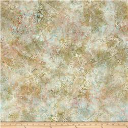 Wilmington Batik Flower Field Tan/Blue