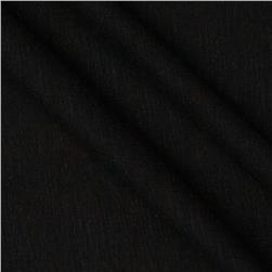 Jersey Cotton Slub Knit Jet Black