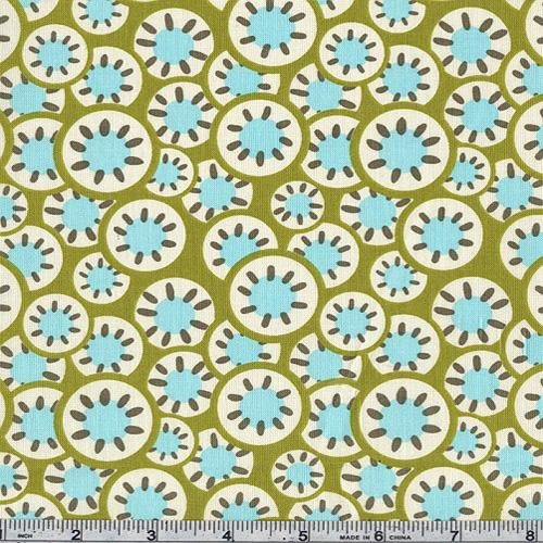 Amy Butler Daisy Chain Kaleidoscope Dots Olive