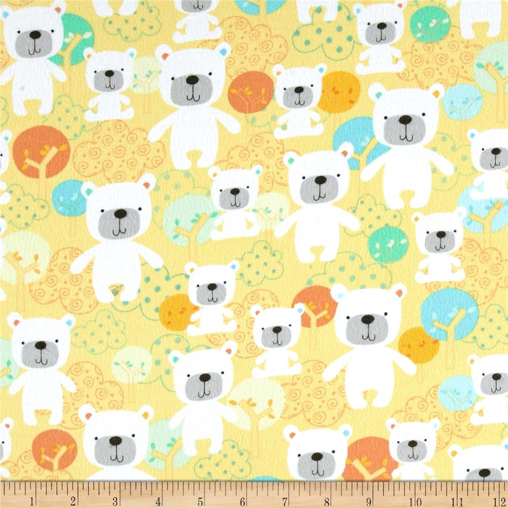 Kanvas Breezy Baby Flannel Baby Bear Yellow