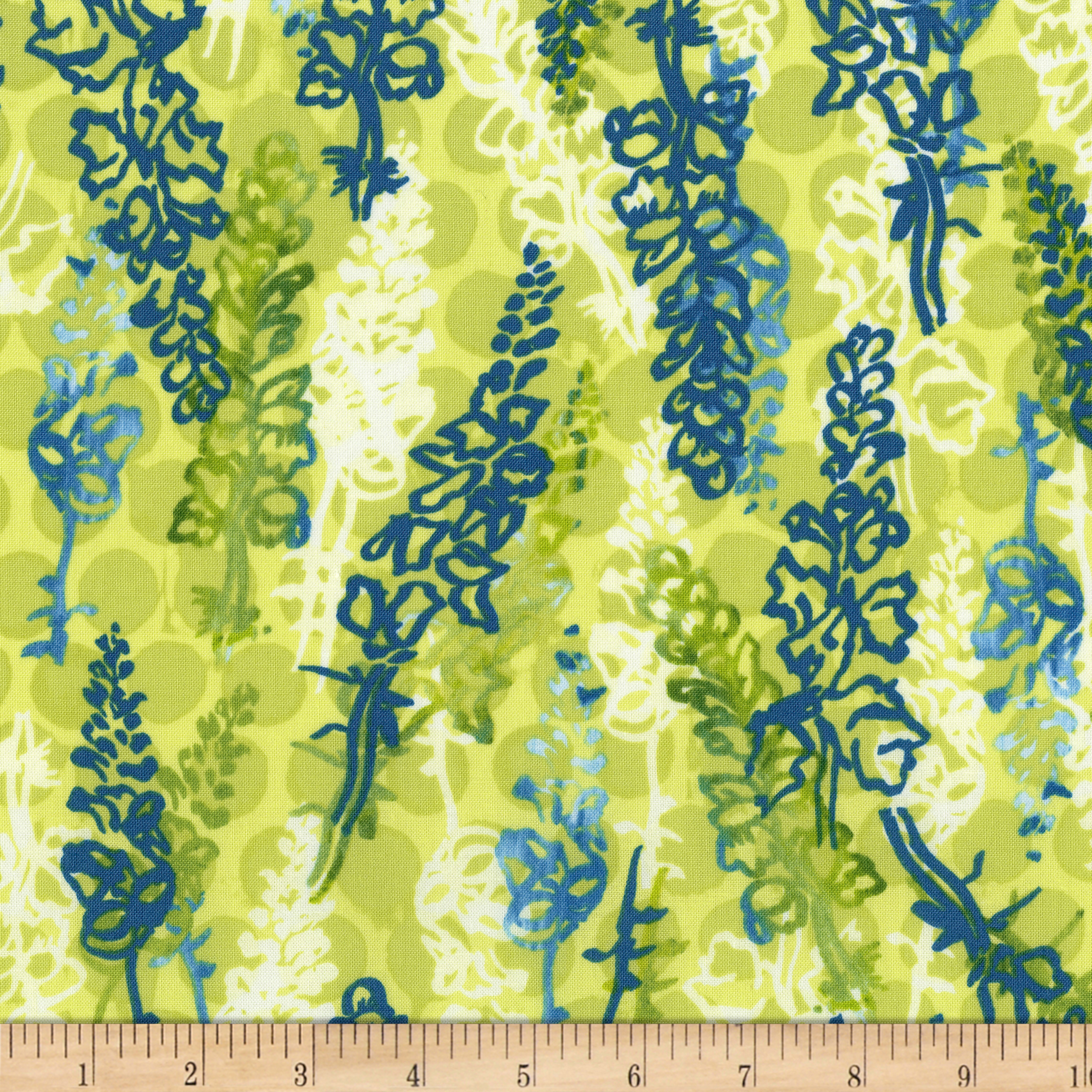 INOpets.com Anything for Pets Parents & Their Pets Urban Garden Snappydragons Peridot Fabric