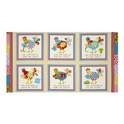 The Little Red Hen Panel Cream/Red