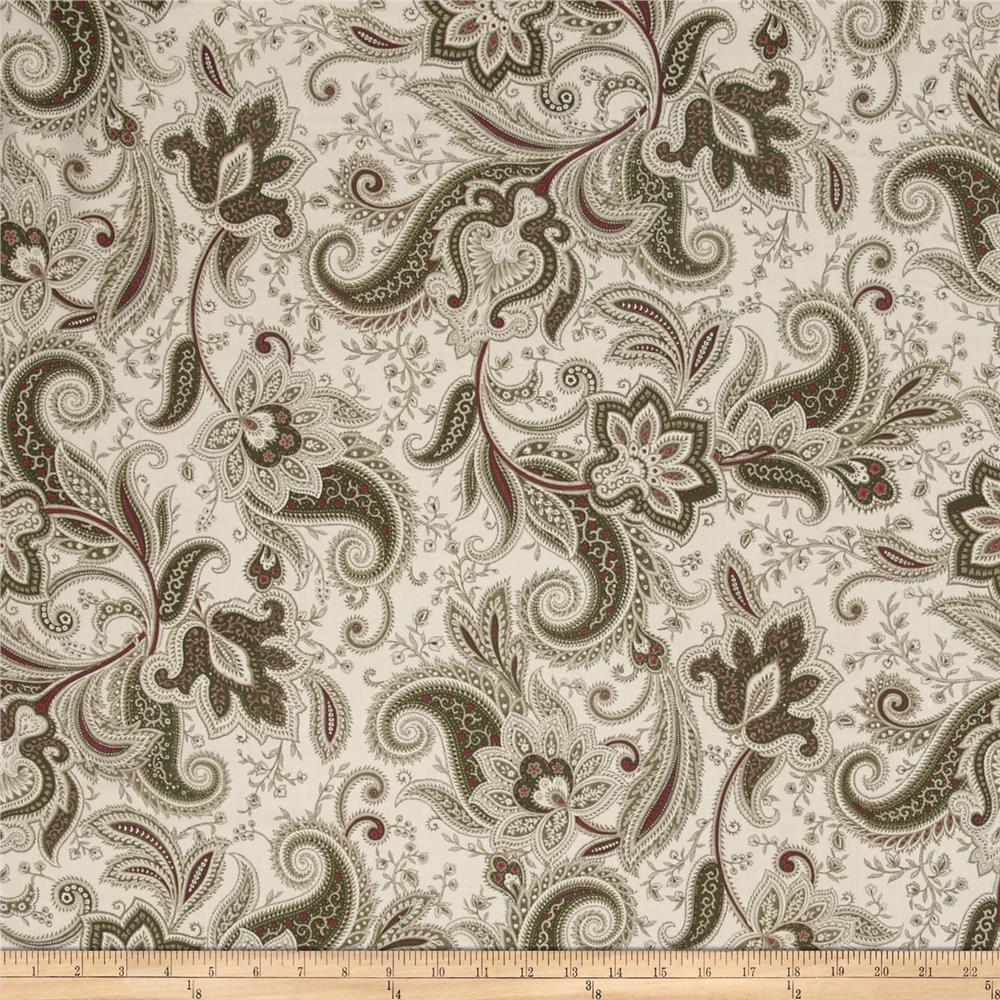 Imperial Paisley Olive Green