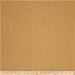 Ramtex Faux Leather Damask Gold