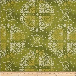 108'' Wide Quilt Backing Medallion Tonal Green Fabric