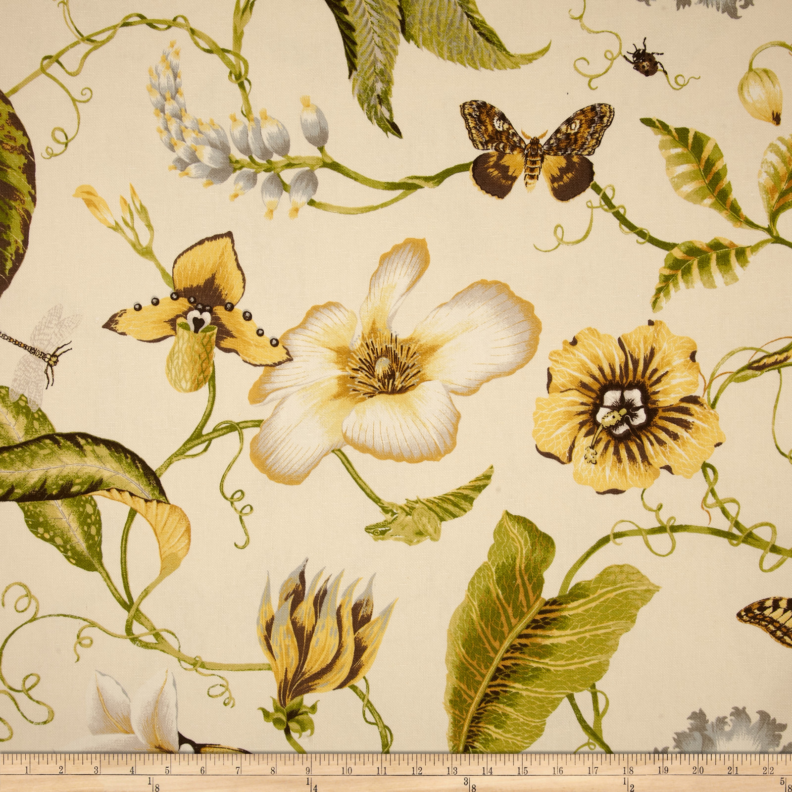 Duralee Home Flora Imperialis Yellow Fabric