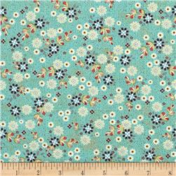 ADORNit You & Me Patched Flowers Turquoise