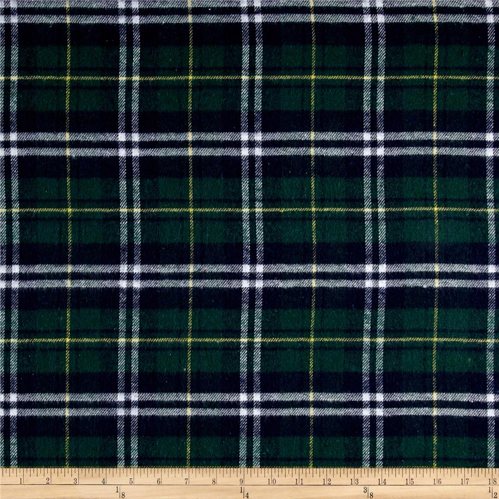 Yarn Dyed Plaid Flannel Navy/Green