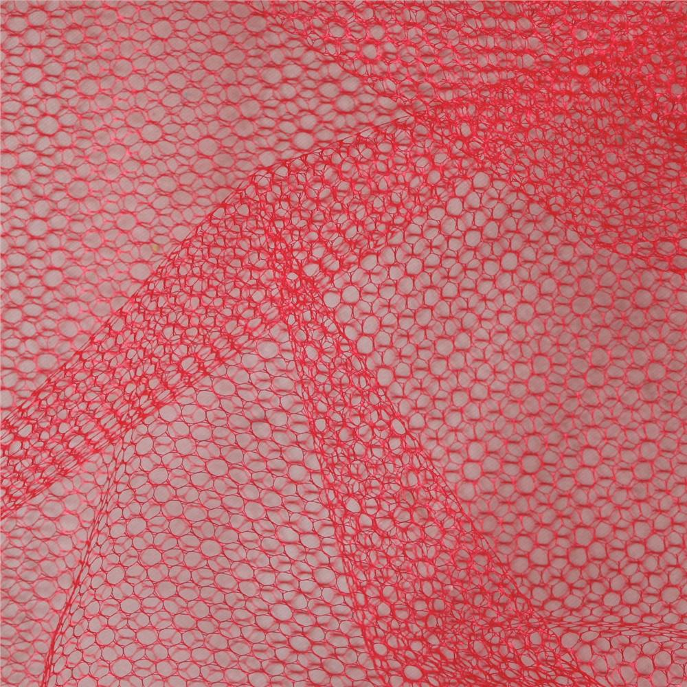 Nylon Netting Red Fabric By The Yard