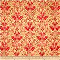 Ink & Arrow Ellery Lyla Damask Yellow/Red