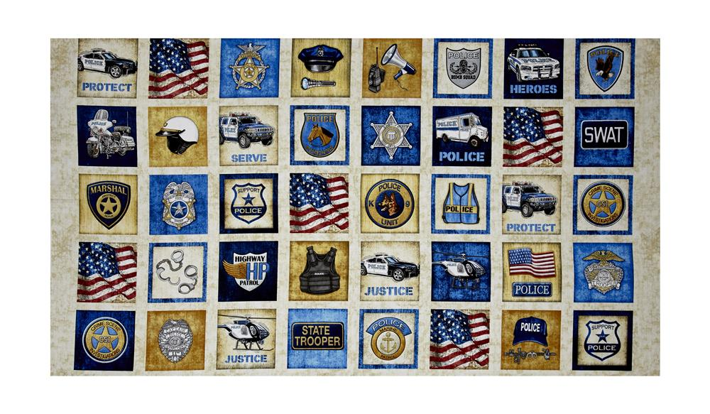"Protect & Serve Patches 24"" Panel Natural"