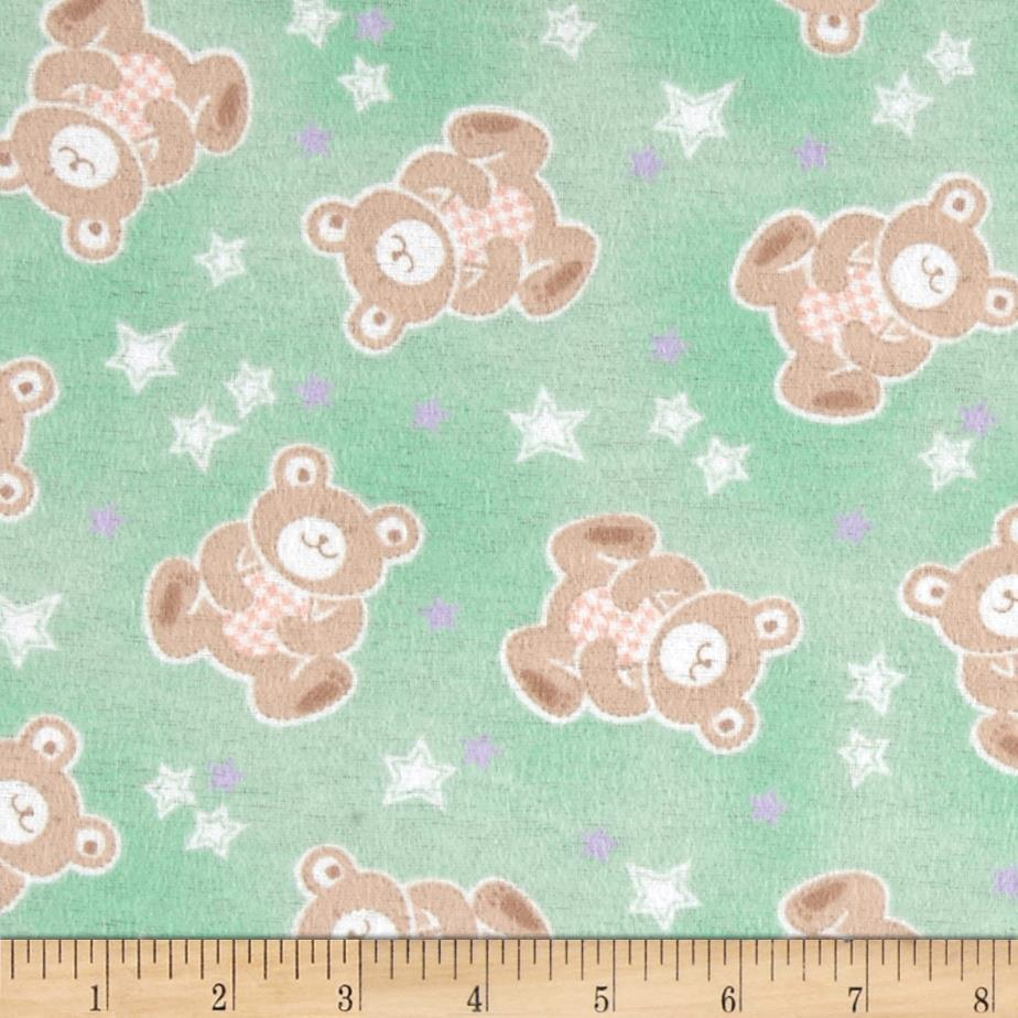 Beary Stars Flannel Mint