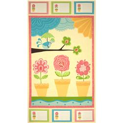 Moda Chance of Flowers Panel Sun