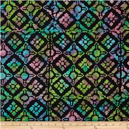 Indian Batik Block Black/Multi