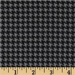 Great Scotts Flannel Houndstooth Grey Fabric
