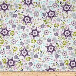 Laugh Love Quilt Large Floral Purple