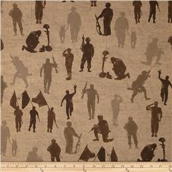 Moda Because of the Brave Silhouettes Burlap