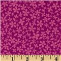 Hot House Flowers Floral Small Floral Tonal Fuchsia
