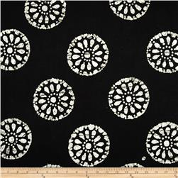Indian Batiks Medallion Black/White