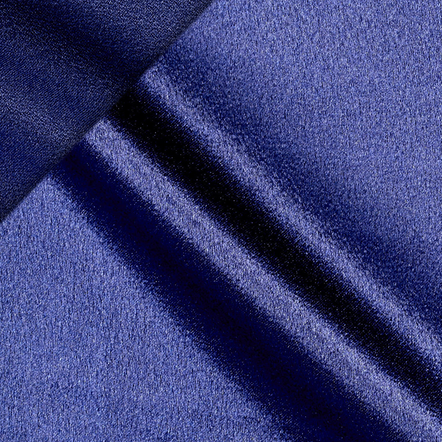 After Midnight Reversible Crepe Back Satin Navy Fabric by Logantex in USA