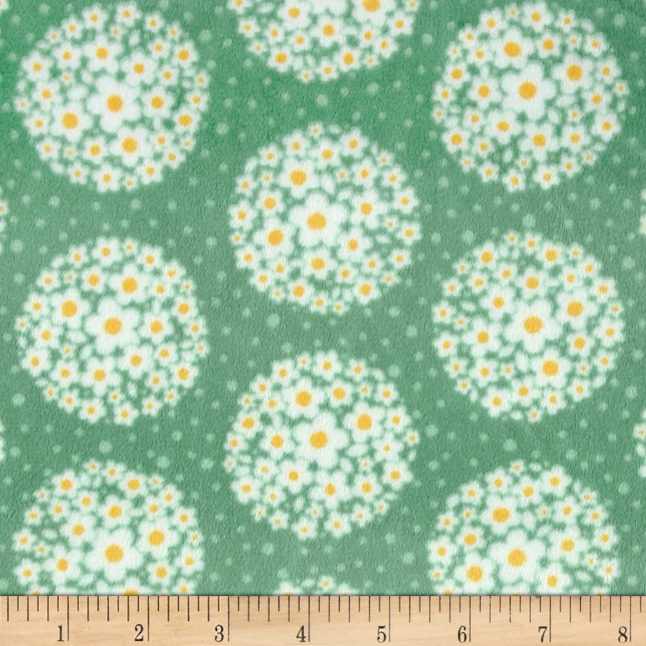 Adorn-it Minky Cuddle Pom Pom Dot Mist Fabric
