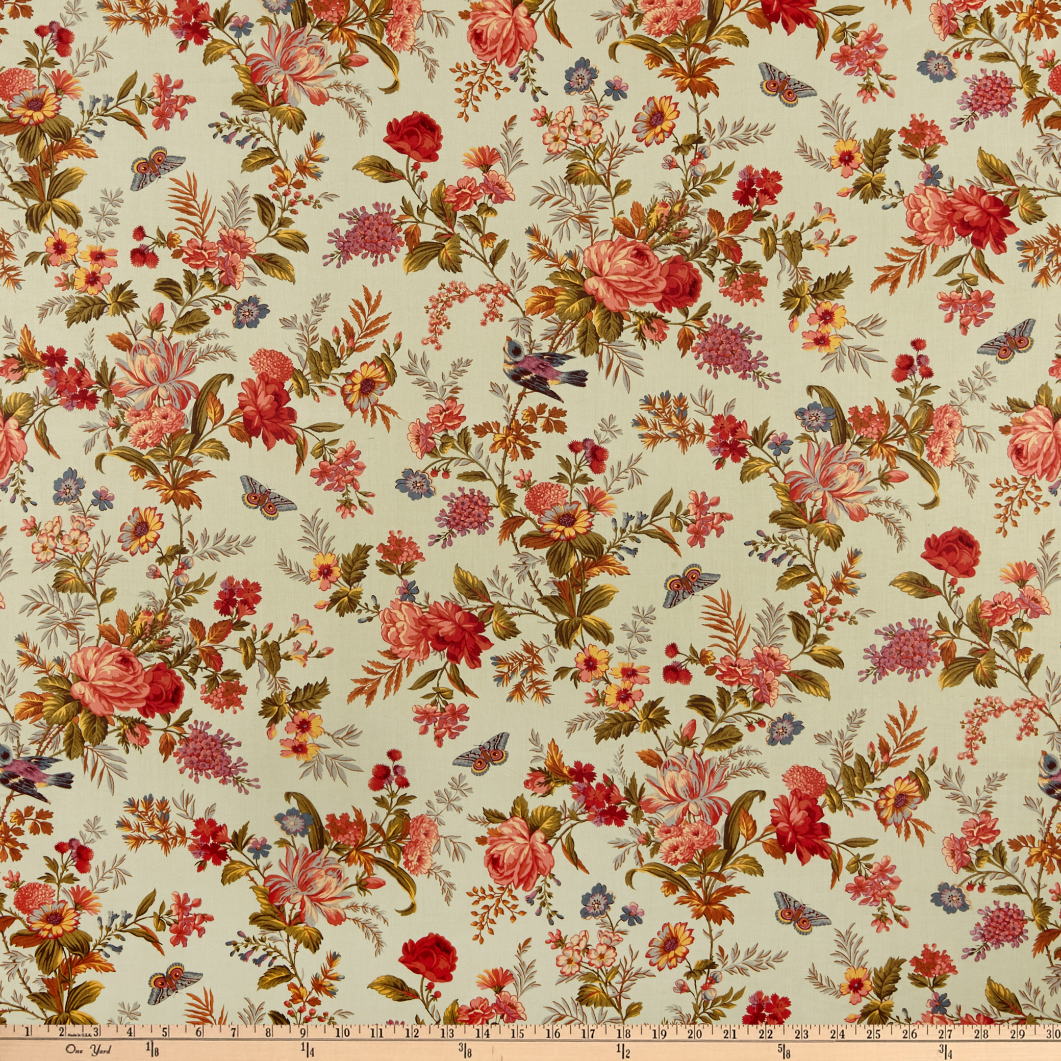 Andover Bed of Roses Bed of Roses Pistachio Fabric