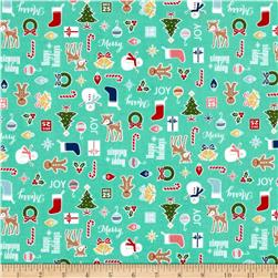 Riley Blake Cozy Christmas Main Teal