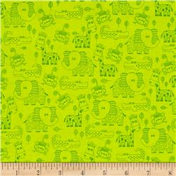 Diane Eichler Swingin' Safari Monotone Linework Animals Green