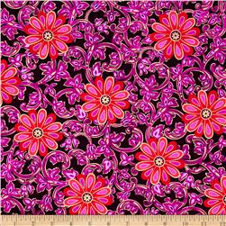 Kanvas Bohemian Rhapsody Metallic Floral Rhapsody Wineberry