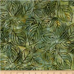Artisan Batiks Color Source 2 Large Leaves Avocado