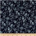Telio Denim Floral Print Dark Blue