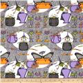 Cats Bats & Vats Large Allover Grey